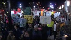Between 2000 and 5000 people protest against the passing of Prop 8 and the LDS church's involvement on Temple Square tonight